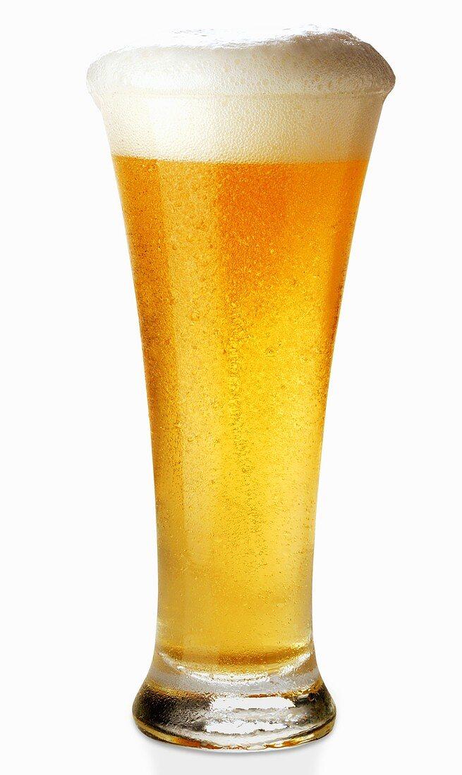 A glass of Weissbier (wheat beer)