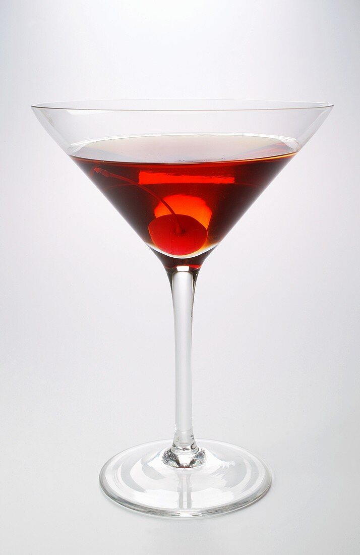 Aperitif with cocktail cherry