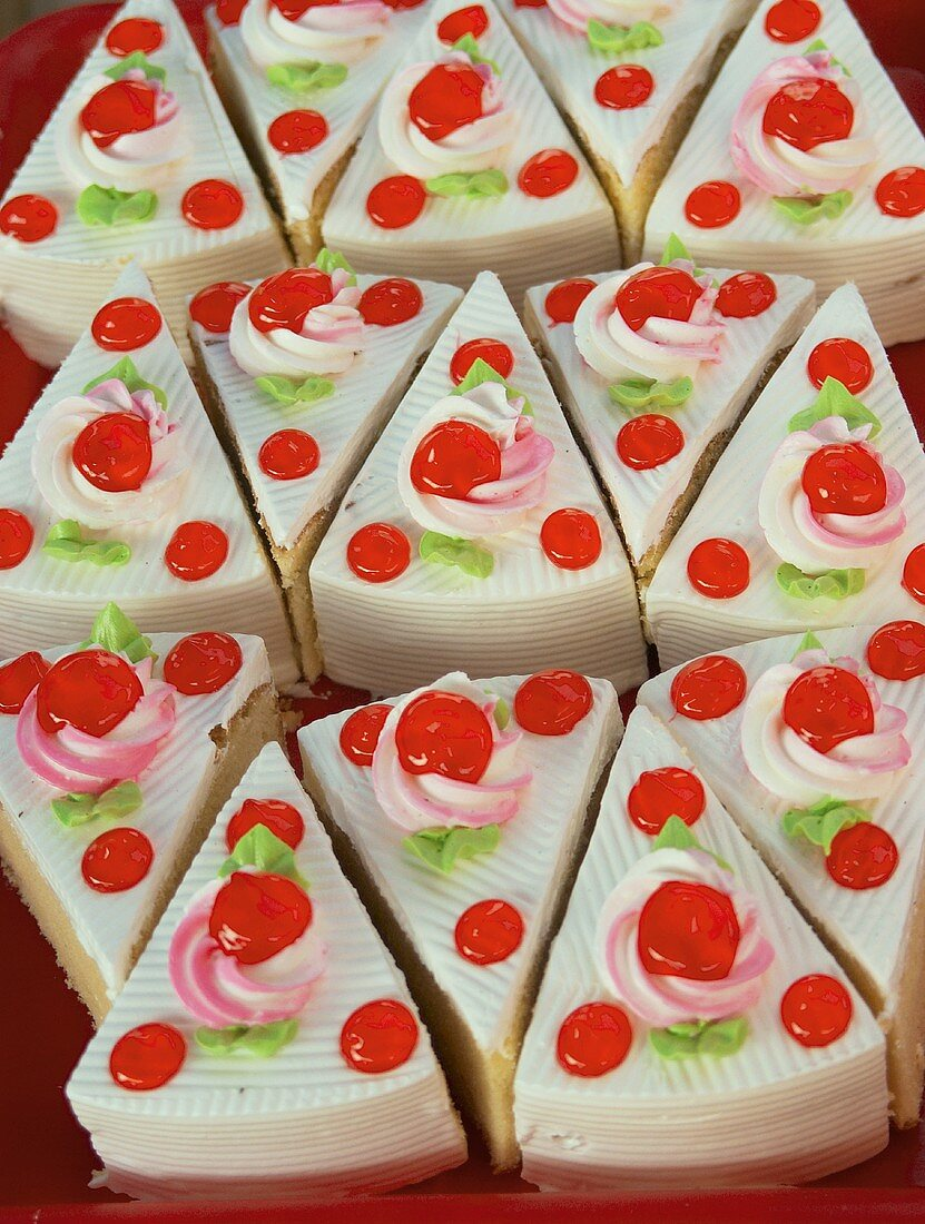 Several small sponge cakes