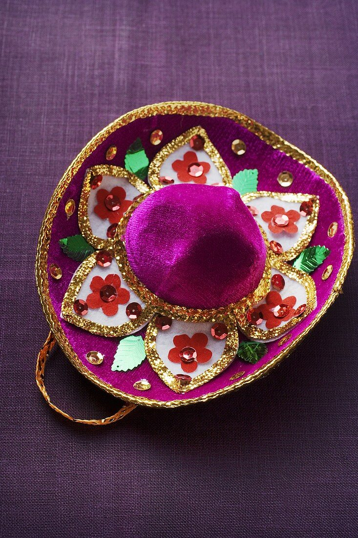 Hat embroidered with sequins