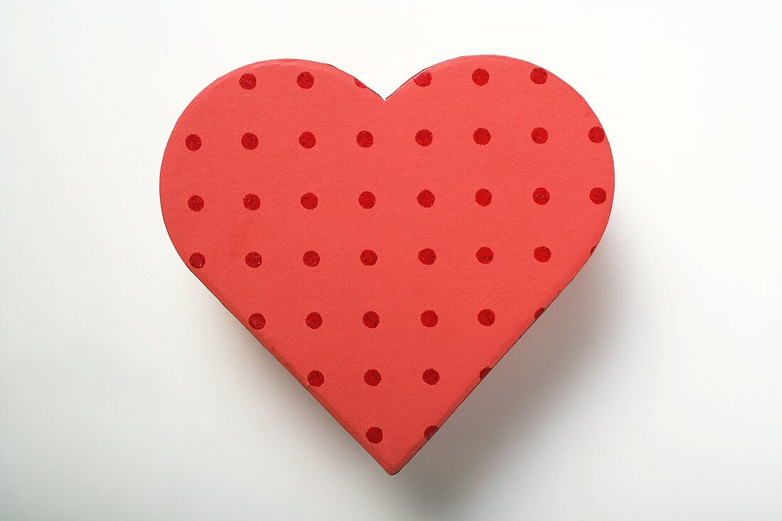 Red heart-shaped box