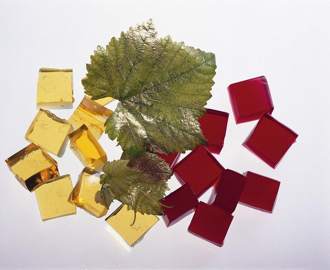 White Wine & Red Wine Jelly Cube