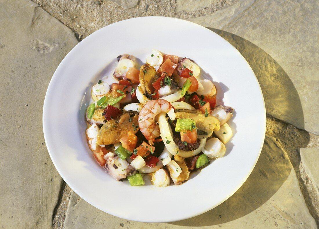 Salpicon de marisco (Seafood salad, Spain)