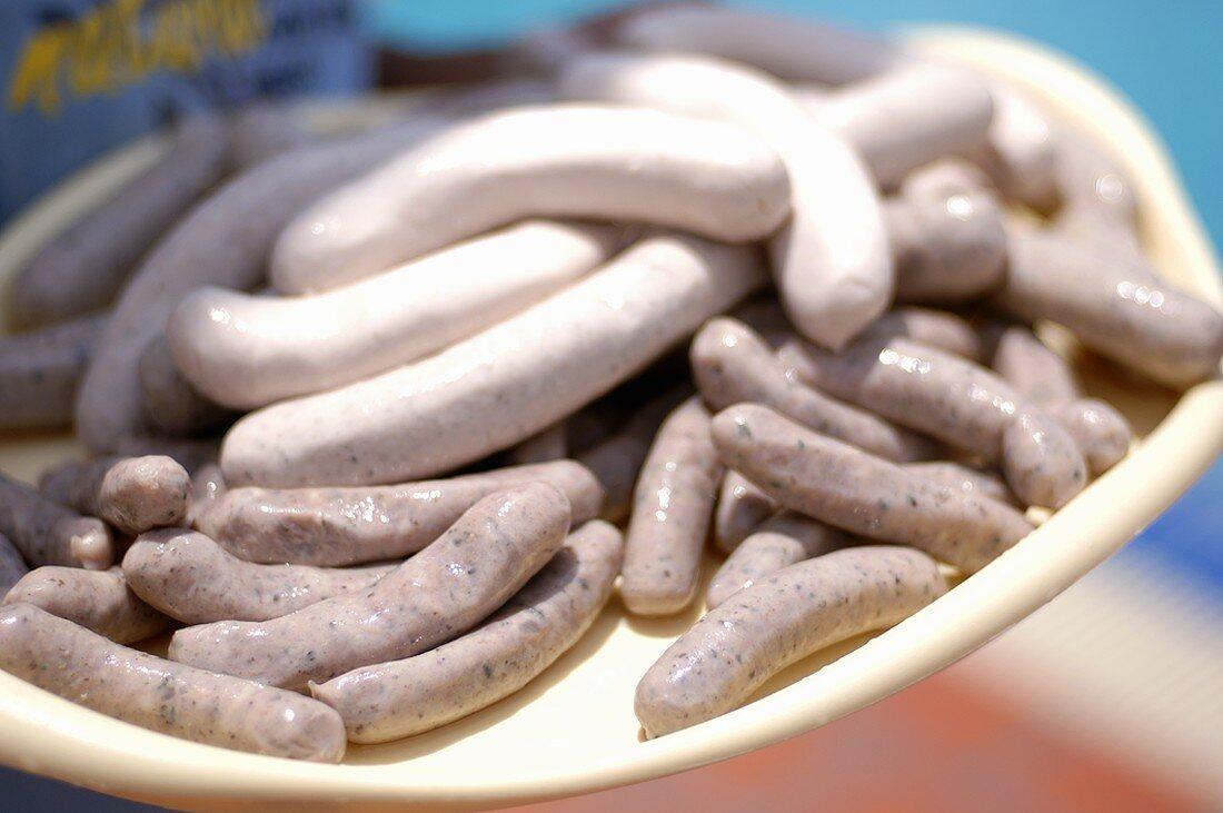 Nuremberg sausages and veal sausages