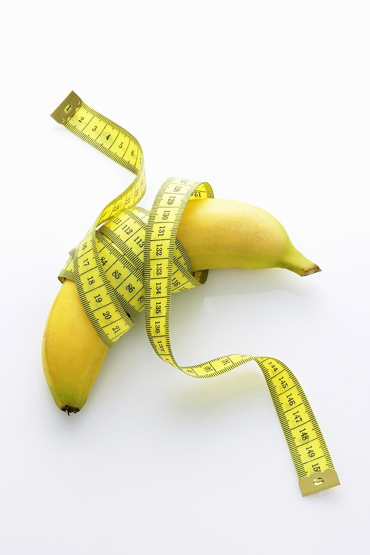 A banana with a tape measure
