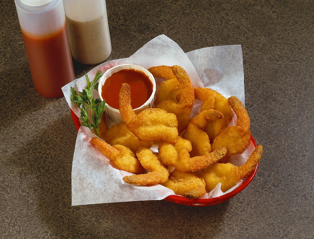 Fried Clams in Basket