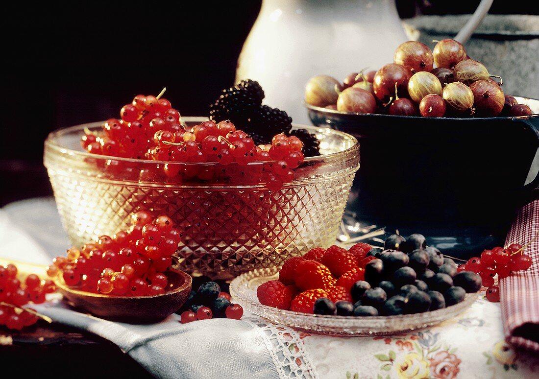 Summer fruit still life