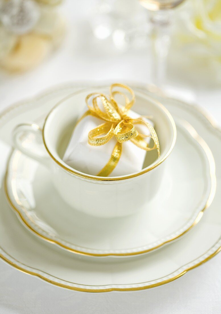 Coffee crockery and a little present