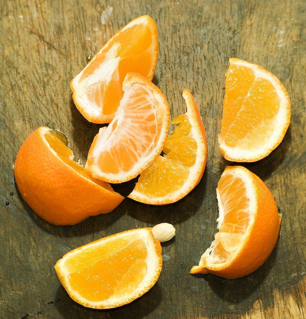 A sliced mandarin