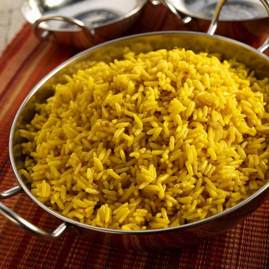 A Bowl of Spanish Yellow Rice (Arroz Amarillo)
