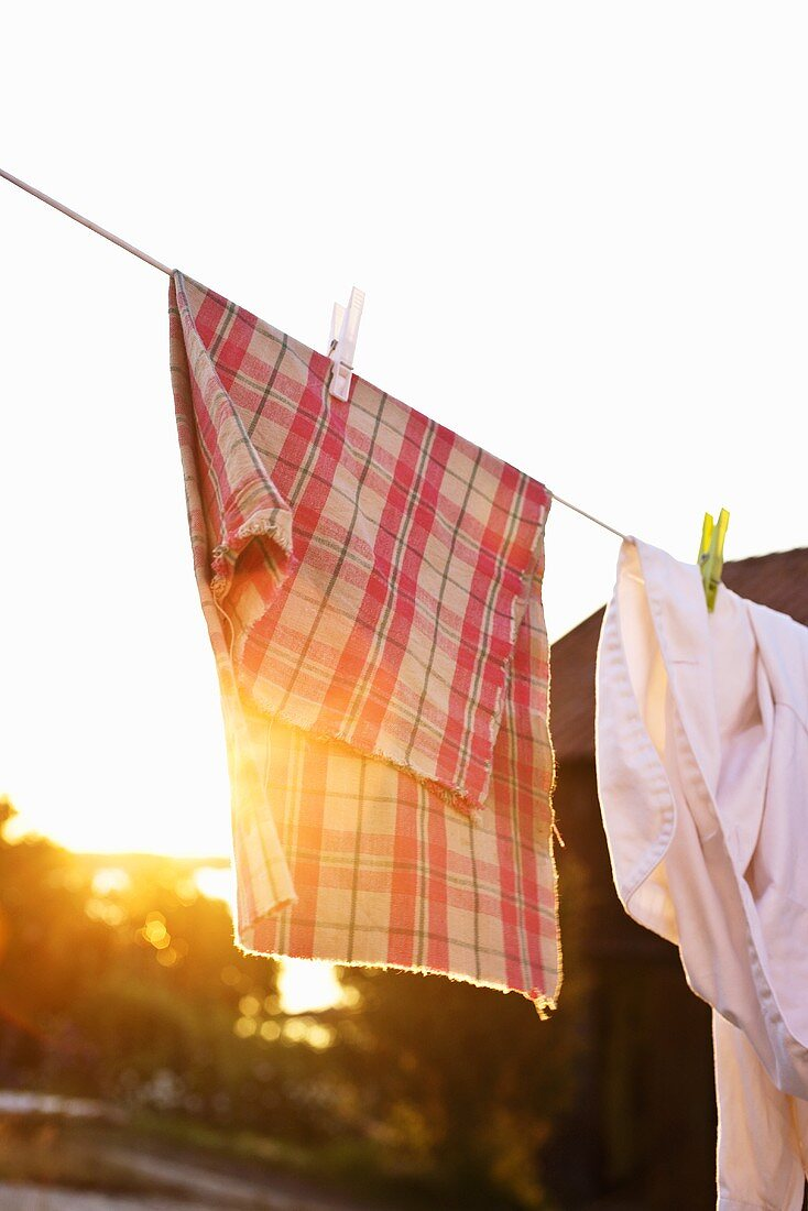 Laundry in the evening sun