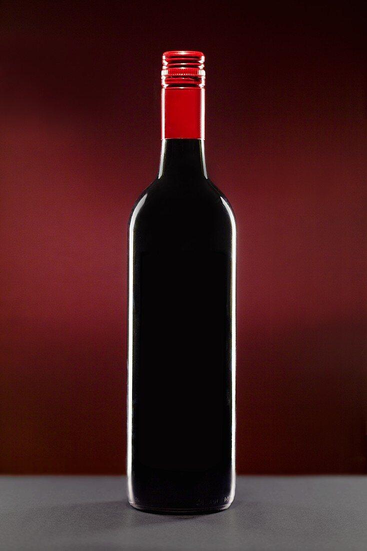Red Wine Bottle with Screw Cap
