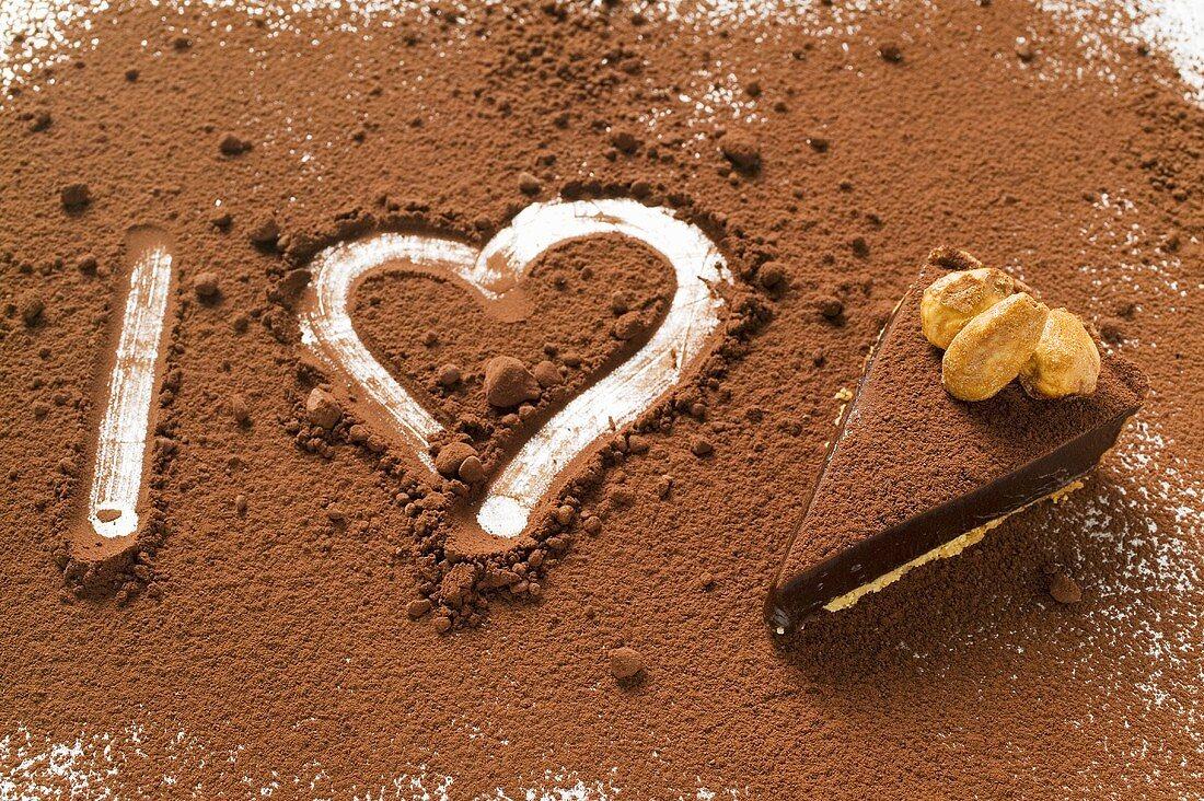 'I heart chocolate tart' (symbolic picture)