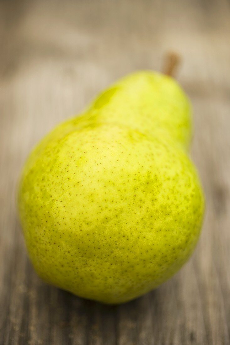 Williams pear on wooden background