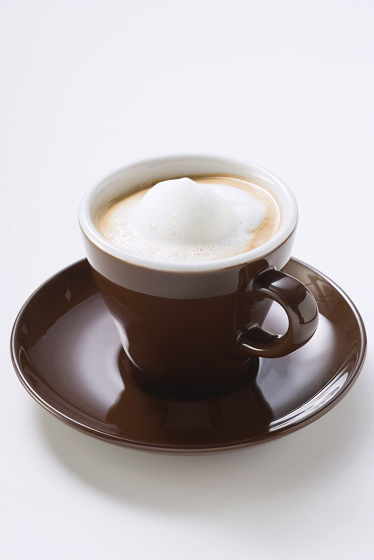 Cup of espresso with milk froth
