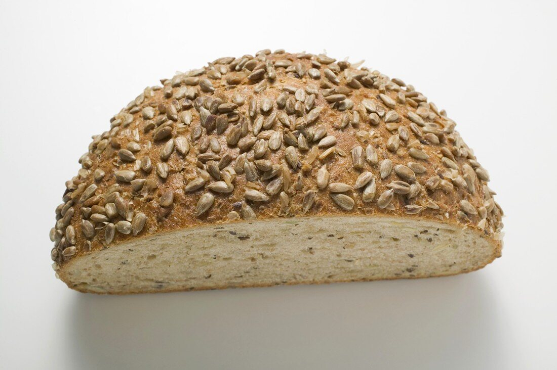 Half a loaf of sunflower bread