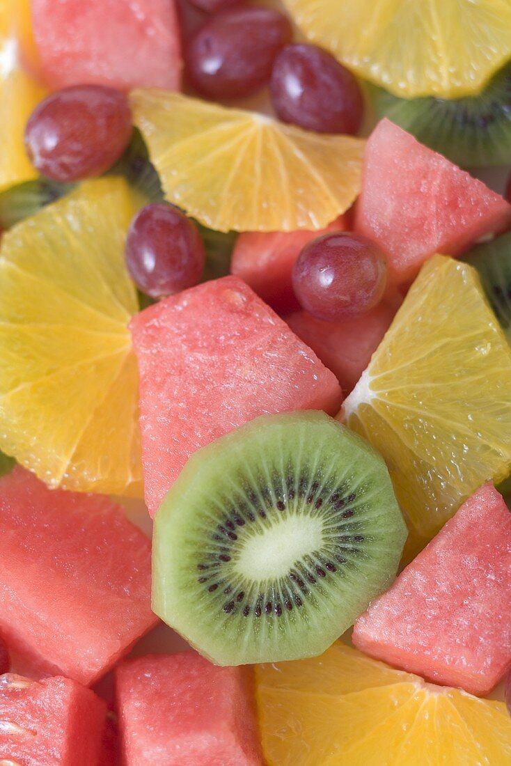 Colourful fruit salad (full-frame)