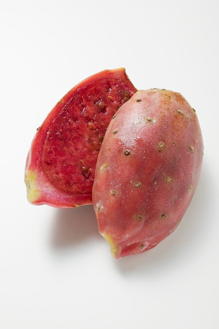 Prickly pear, halved