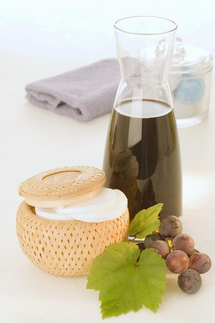 Skin cream and grape seed oil from red grapes