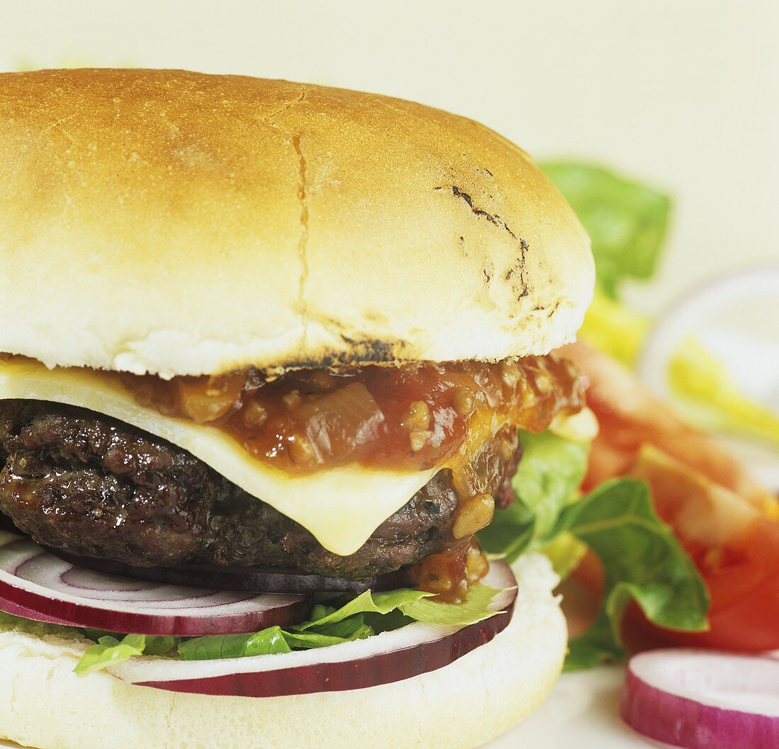 Hamburger with Aberdeen Angus beefburger