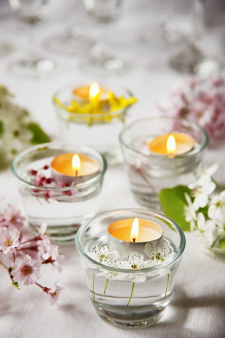 Spring Table Tea Lights