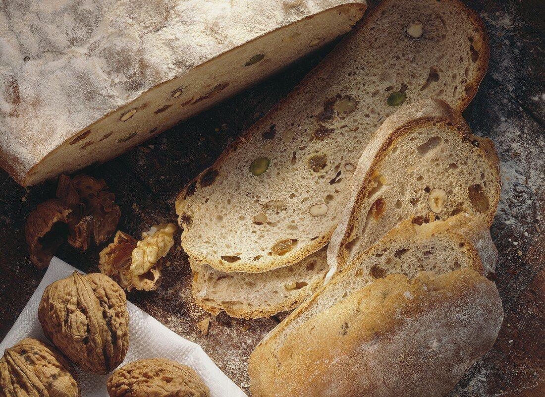 Nut Bread with Raisins & Honey