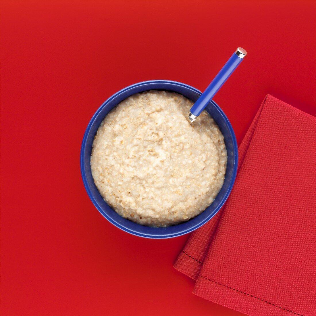 Porridge in bowl