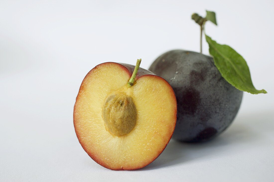 One whole and one half plum
