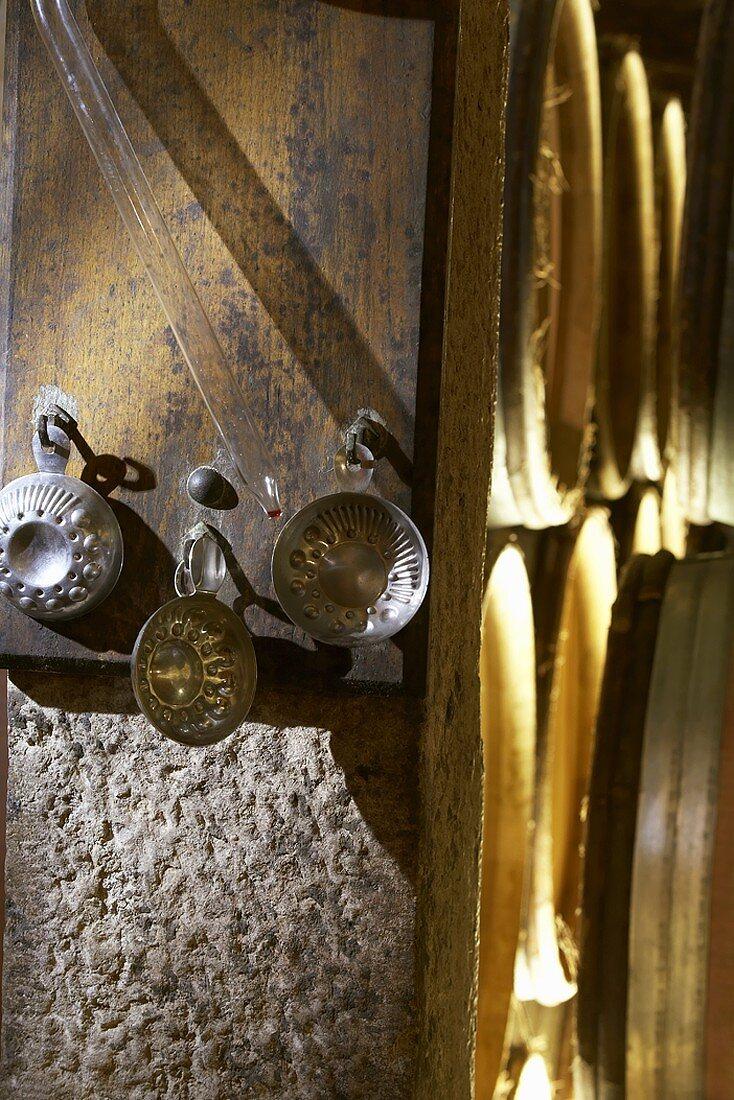 Jean-Louis Trapet's wine cellar in Burgundy, Chambertin