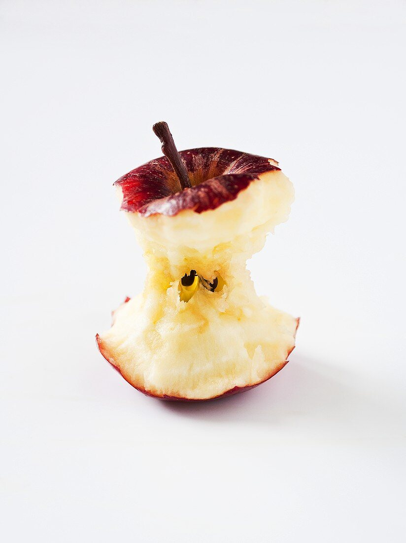 An apple core (Royal Gala)