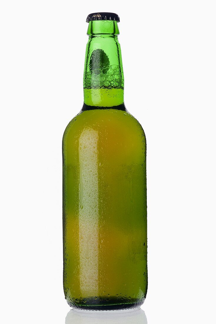 A chilled bottle of lager