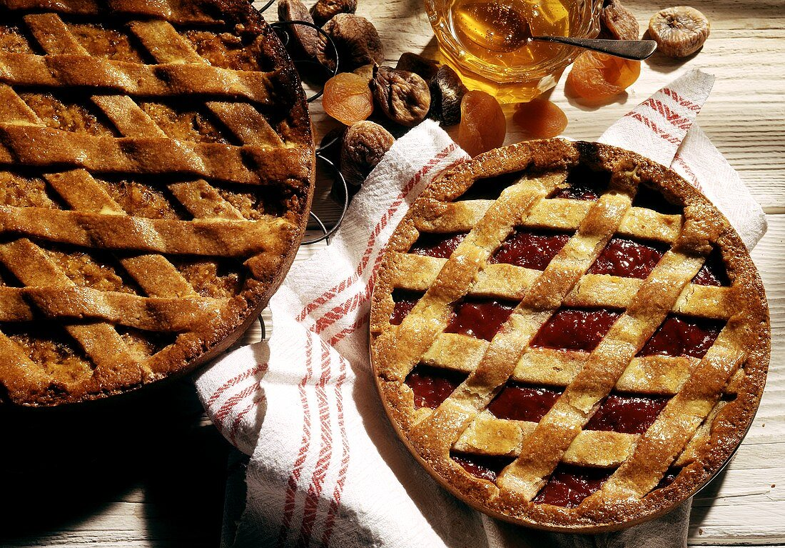 Two assorted Linzer Tortes