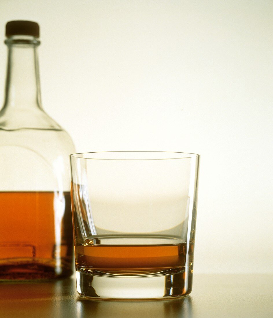 Chivas Regal; Bottle & Glass