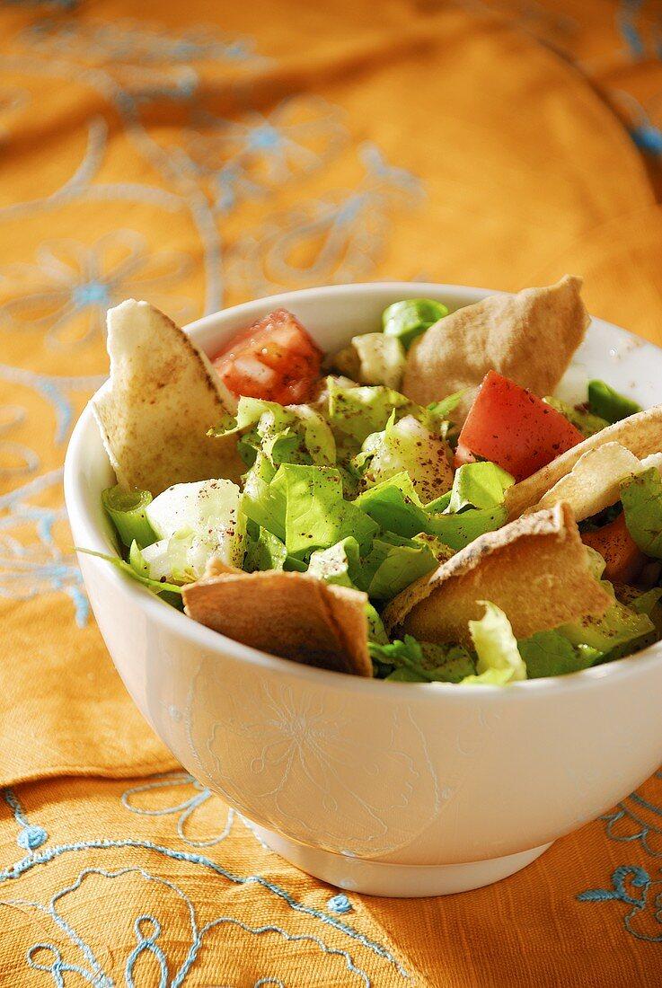 Fattoush: bread and vegetable salad (Lebanon)