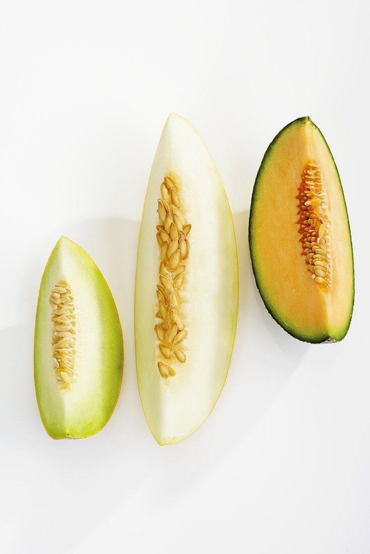 Slices from different melons