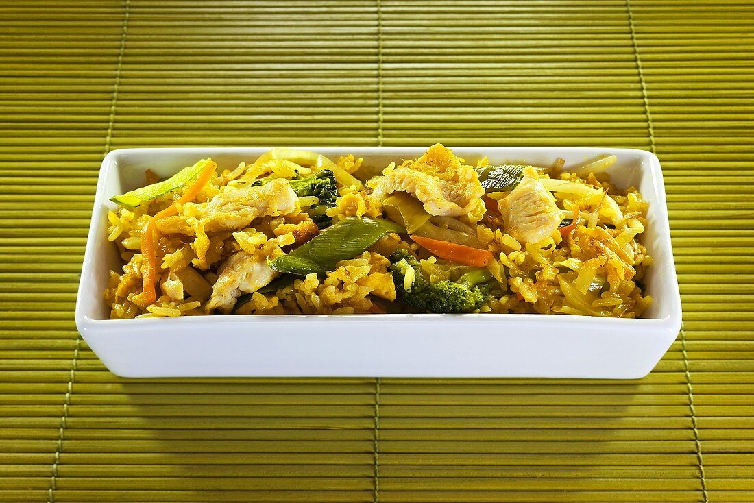 Curried rice with chicken and vegetables (Thailand)