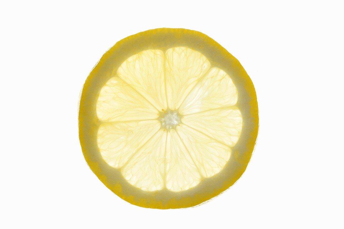 A slice of lemon (backlit)