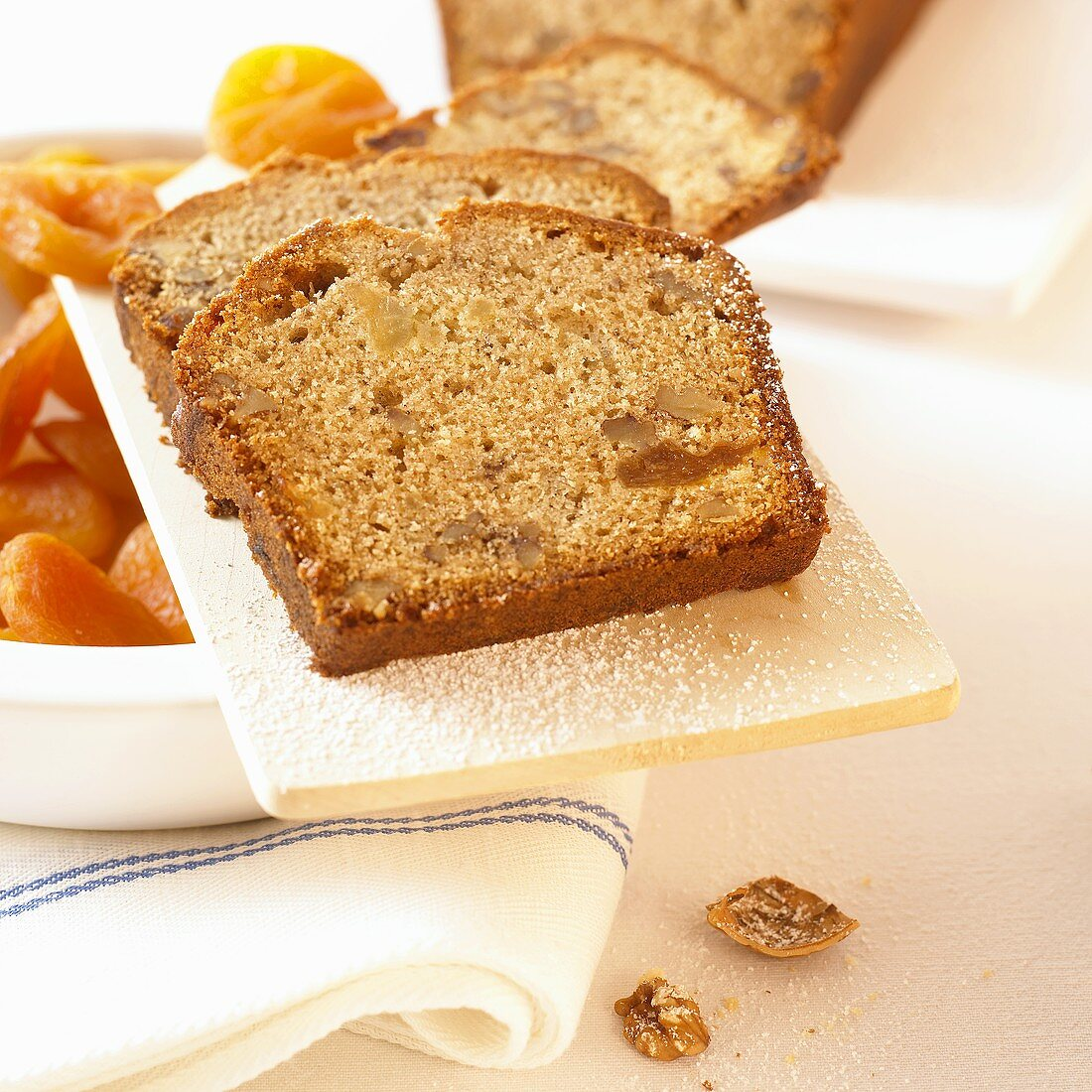 Apricot and nut loaf (several slices)