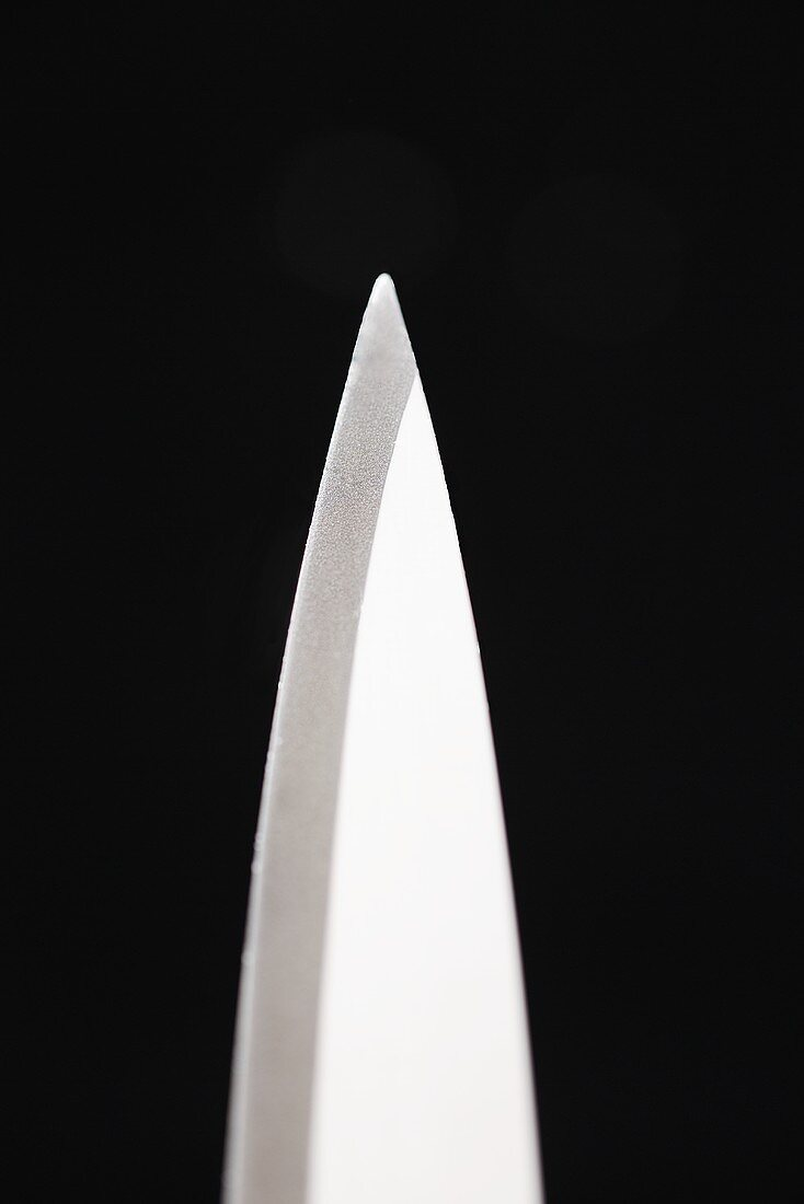 The point of a knife (close-up)