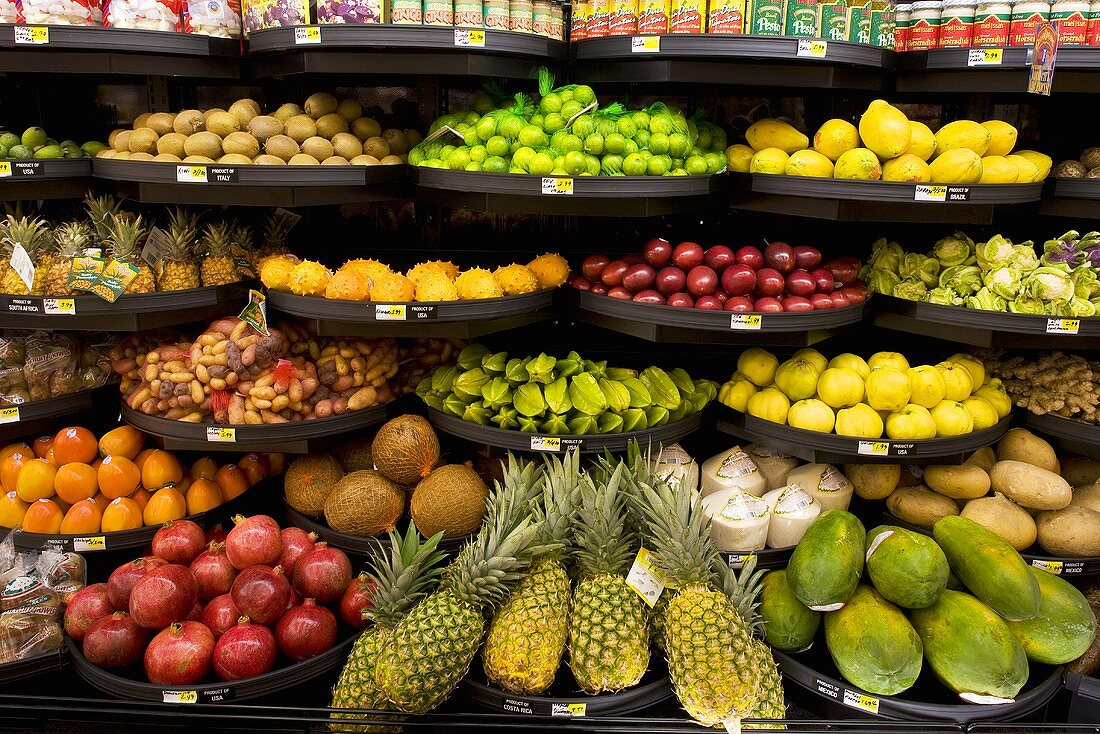 Fruit Display in Grocery Store