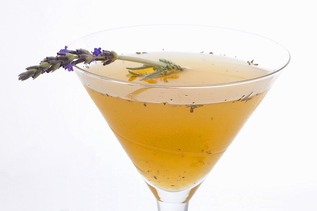 87 Ways Cocktail (Gin, Lemon Juice, Apricot Nectar, Lavender)