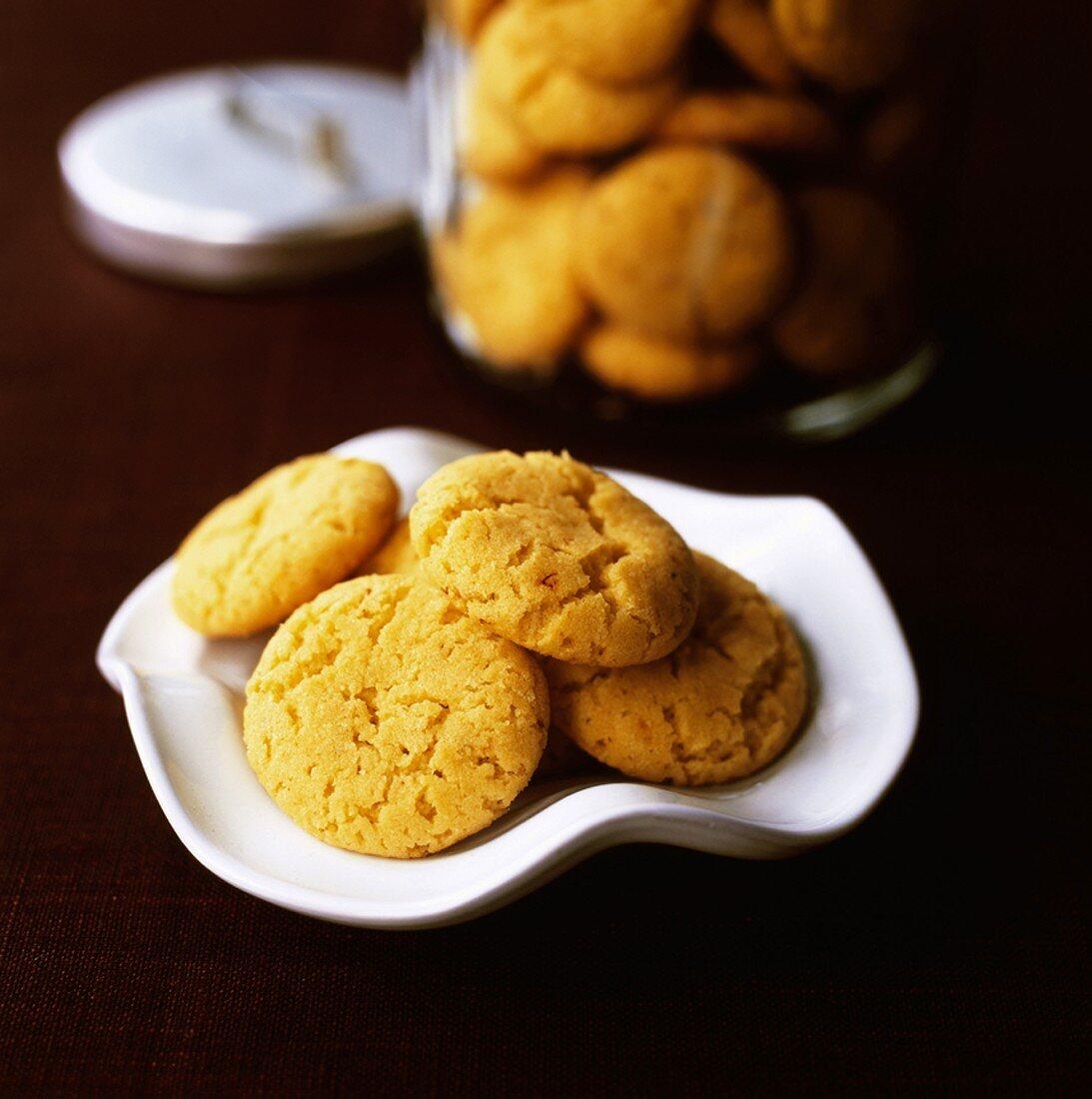 Swedish saffron biscuits