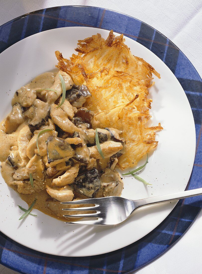 Turkey with Mushrooms & Hash Browns