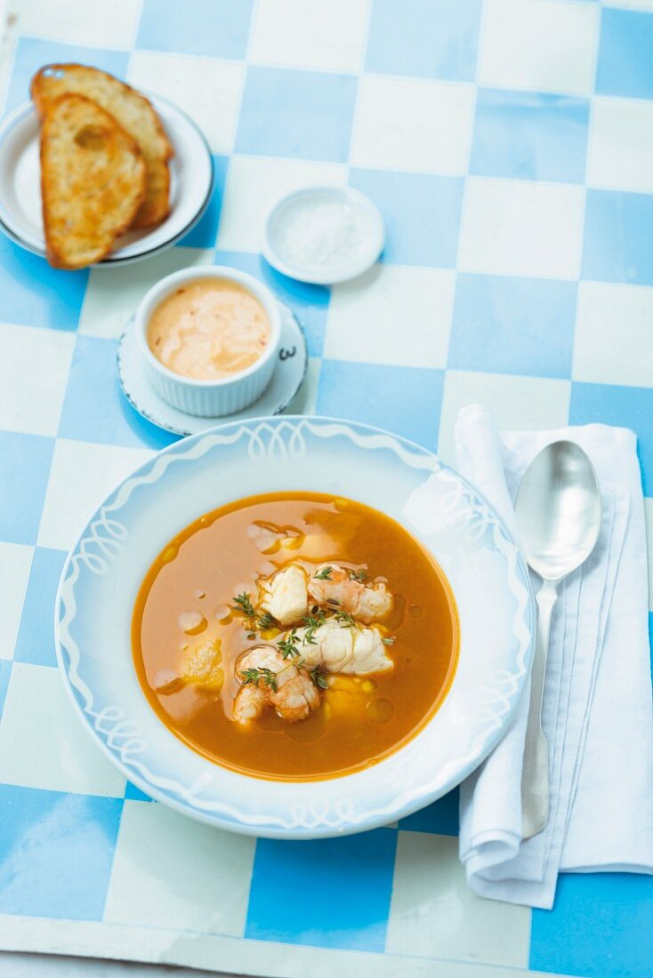 Bouillabaisse with Rouille (France)