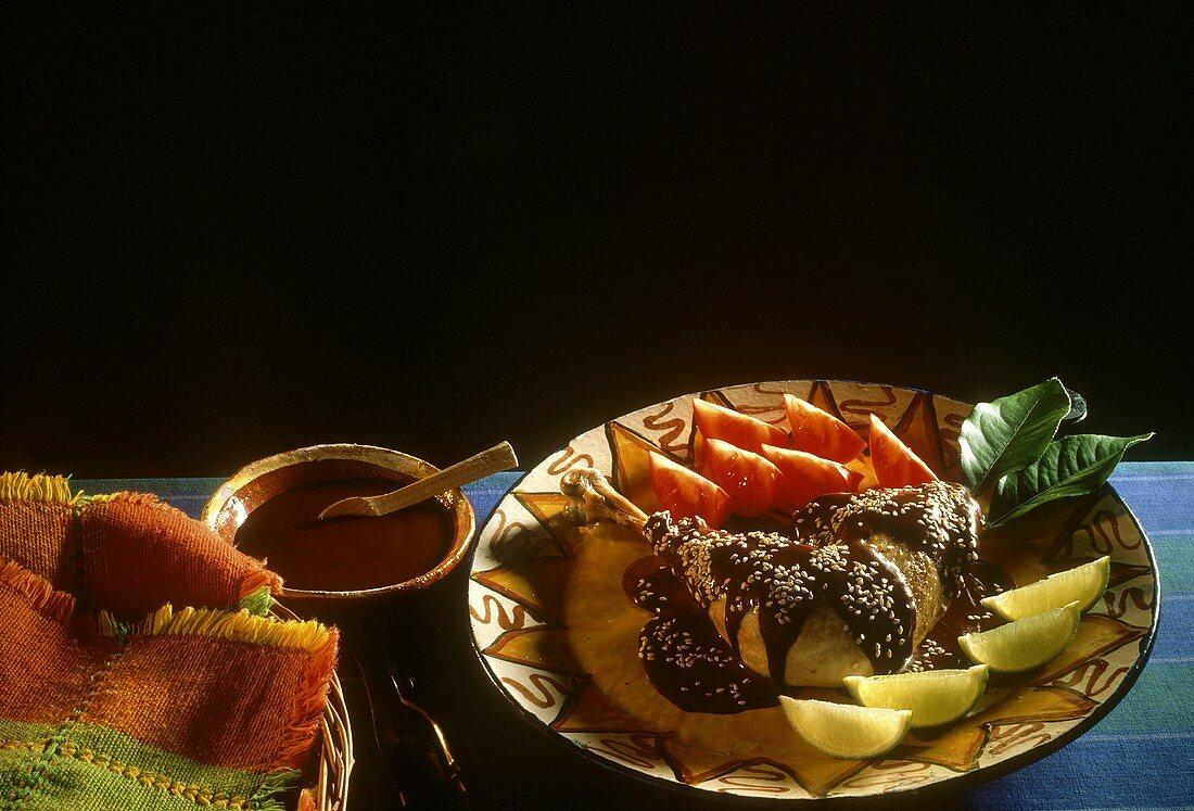 Turkey with Mole Sauce & Sesame