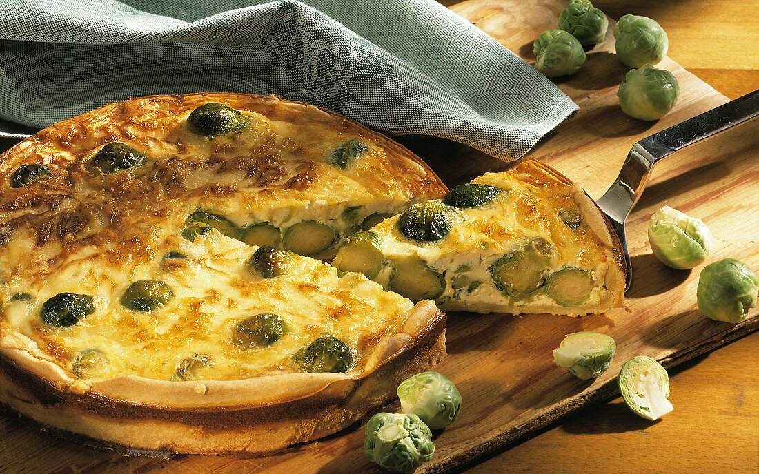Brussels sprout quiche