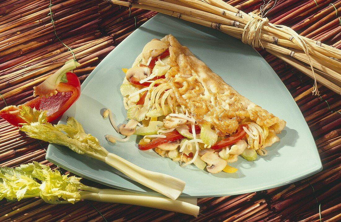 Omelet with Vegetable-Sprout Filling