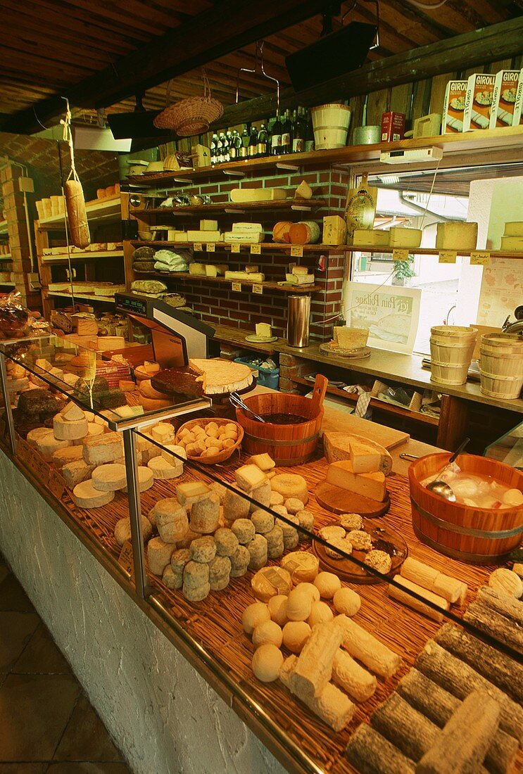 Inside a Cheese Market