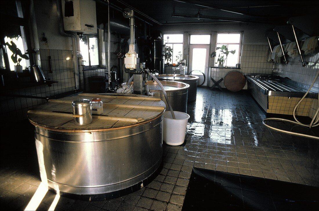 Cheese Dairy in Switzerland
