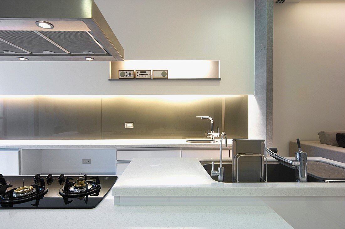 Sink in modern kitchen